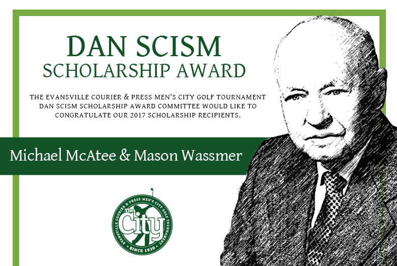 2017 Scism Scholarship Winners, Michael McAtee and Mason Wassmer